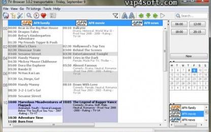 Portable TV-Browser 3.1 / 3.2 Beta 2 برنامج دليل و بحث عن القنوات التلفزيونية