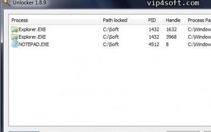 برنامج لحذف الملفات والبرامج العالقة والمستعصية Unlocker 1.9.1