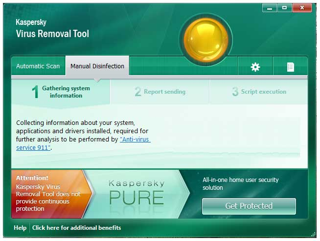 أداة كاسبرسكيKaspersky Virus Removal Tool