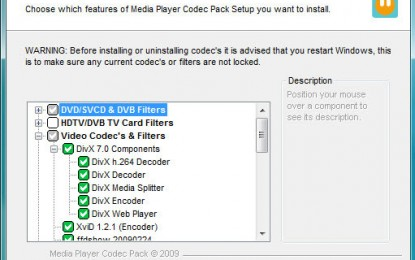 Media Player Codec Pack 4.3.1 برنامج تشغيل ملتيميديا
