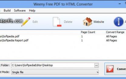 Weeny Free PDF to HTML Converter برنامج تحويل PDF إلى HTML