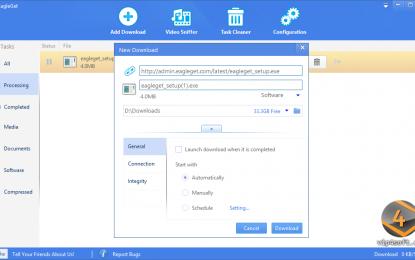 EagleGet 1.1.8.3 برنامج لتحميل كافة أنواع الملفات فيديو صور أغاني