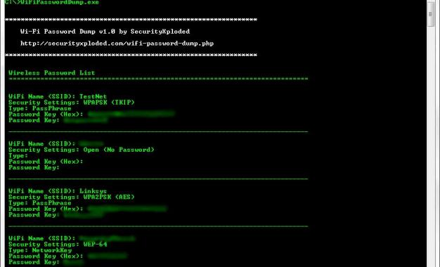 Wi-Fi Password Dump 2.1 برنامج لكشف كلمة سر الوايرلس