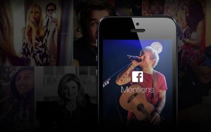 تطبيق Facebook Mentions الخاص بالمشاهير