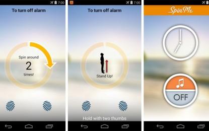 SpinMe Alarm Clock تطبيق منبه لأجهزة أندرويد