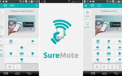 SureMote – Universal Remote تطبيق تحكم عند بُعد للتلفازات الذكية