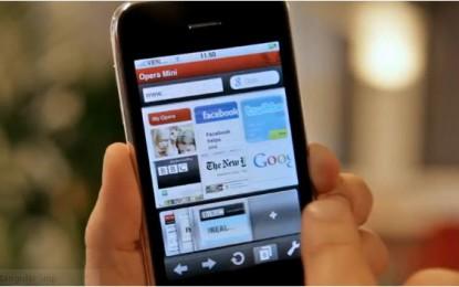 متصفح أوبرا ميني Opera Mini لهواتف آيفون